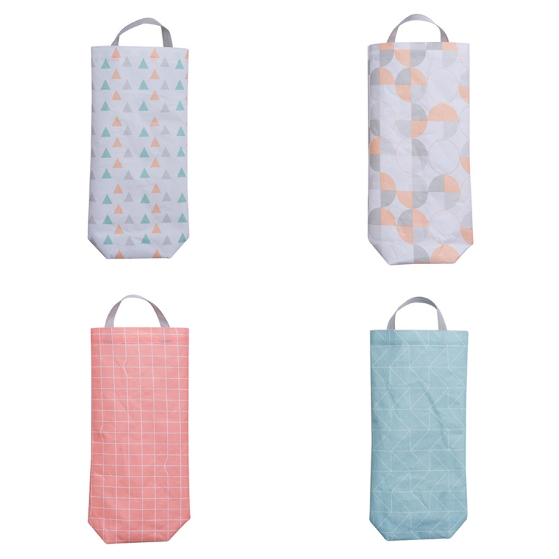 Waterproof Oxford Cloth Garbage Bag Organizer With Hanging Hole Plastic Bag Dispenser Wall Mount