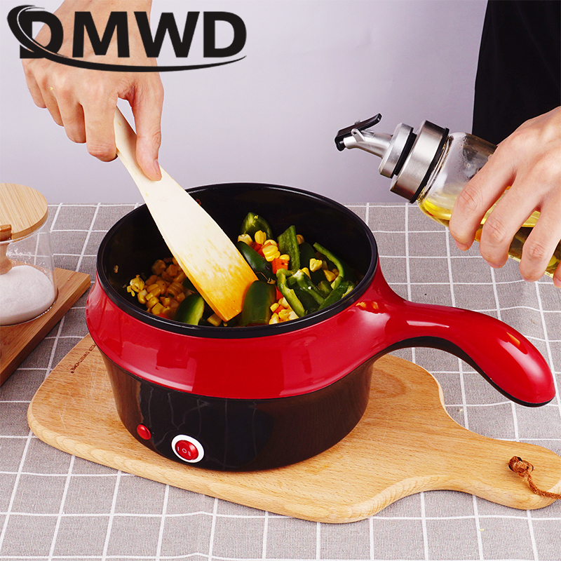 Multifunctional Electric Rice Cooker Hotpot Mini Non stick Food Noodle Cooking Skillet Egg Steamer Soup Heater Pot Frying Pan EU