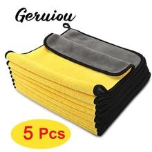Toalla de limpieza de coche de 5 uds., Paño de secado de limpieza de coche, toalla de lavado de coche, toalla de limpieza multifuncional