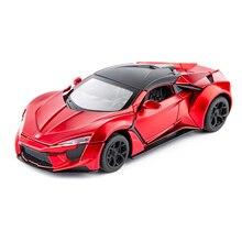 1:32 Scale Diecast Model Car Toy Metal Wheels Sports Car High Simulation Sound And Light Pull Back Racing Car Toys For Kids Gift цена в Москве и Питере
