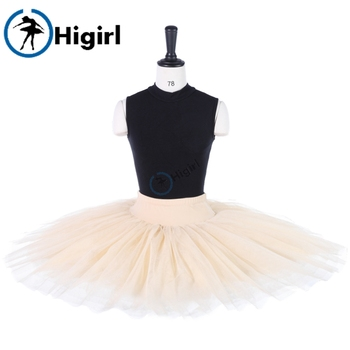 adult beige  half Ballet Tutu for girls ballerina tutus professonal half pancake platter black ballet tutu for women BT8923