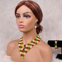 Dudo комплект ювелирных изделий в африканском стиле Набор цветных