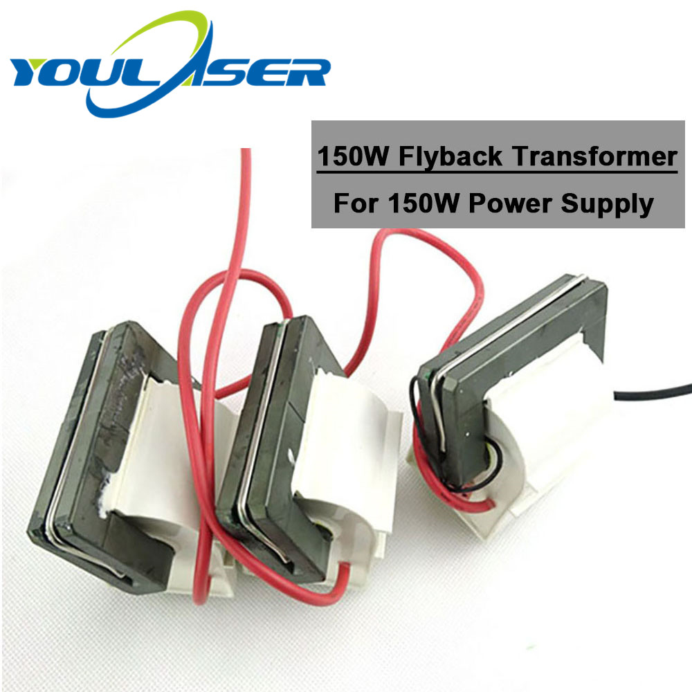 3pcs/lot High Voltage Flyback Transformer 150W Laser Power Supply For Co2 Laser Engraving Cutting Machine