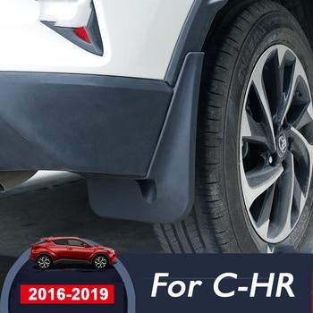 4pcs Black Car Front Rear Mud Flap Mudguards Mudflaps Splash Guards Fender for Toyota C-HR CHR 2016 2017 2018 2019 Accessories фото