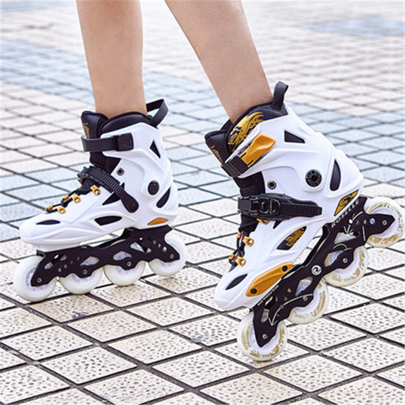 Skates Adult Inline Men And Women Roller Shoes Fancy Roller Skates Luminous Beginners Adult Flat Flower Skates