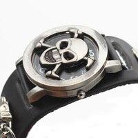 Luxus Marke Schädel Uhren Extravaganten männer Uhren Quarz Chronograph Military Armbanduhr Männer Uhr Uhren Para Hombre