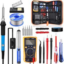 Soldering Iron Kit with ON/OFF Switch, Rarlight 60W 110V Adjustable Temperature Welding Tool Soldering Iron