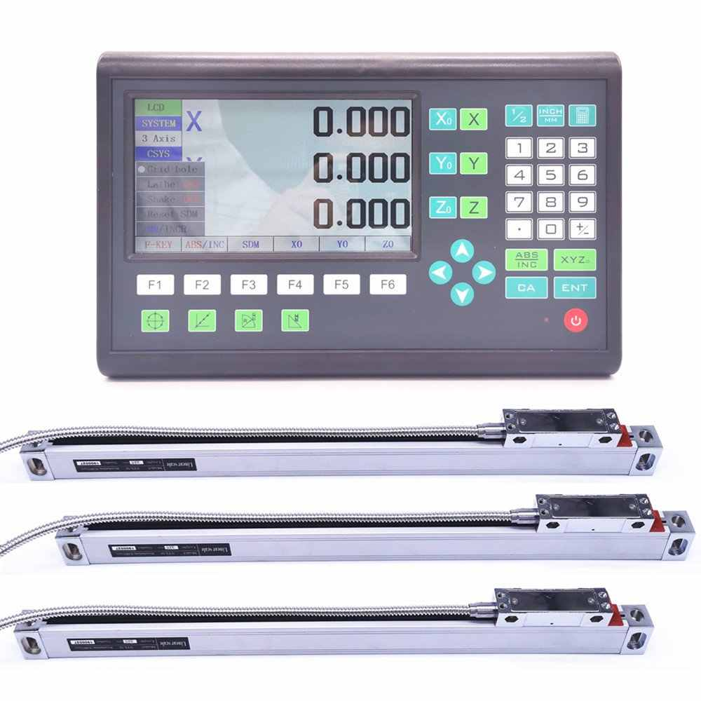 3 Axis Digital Readout Linear Scale DRO Display CNC Milling Lathe Encoder