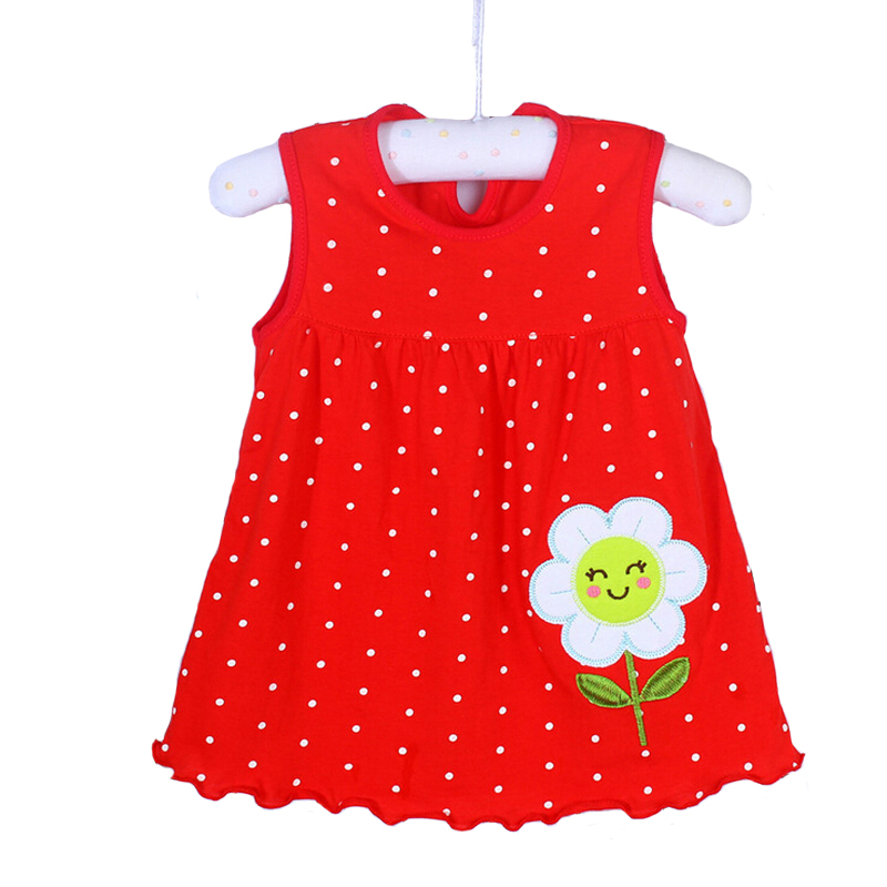 2019 Girls Clothing Summer Girl Dress Baby Girls Infant Kids Cartoon Floral Dress Clothes Sundress Casual Dresses 0-24 Months