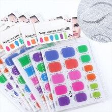 Стекловолокно для ногтей советы для дизайна ногтей быстрое расширение Красочные смешанные размеры гвоздь нетканые шелковые шарфы для ногтей инструменты для ногтей