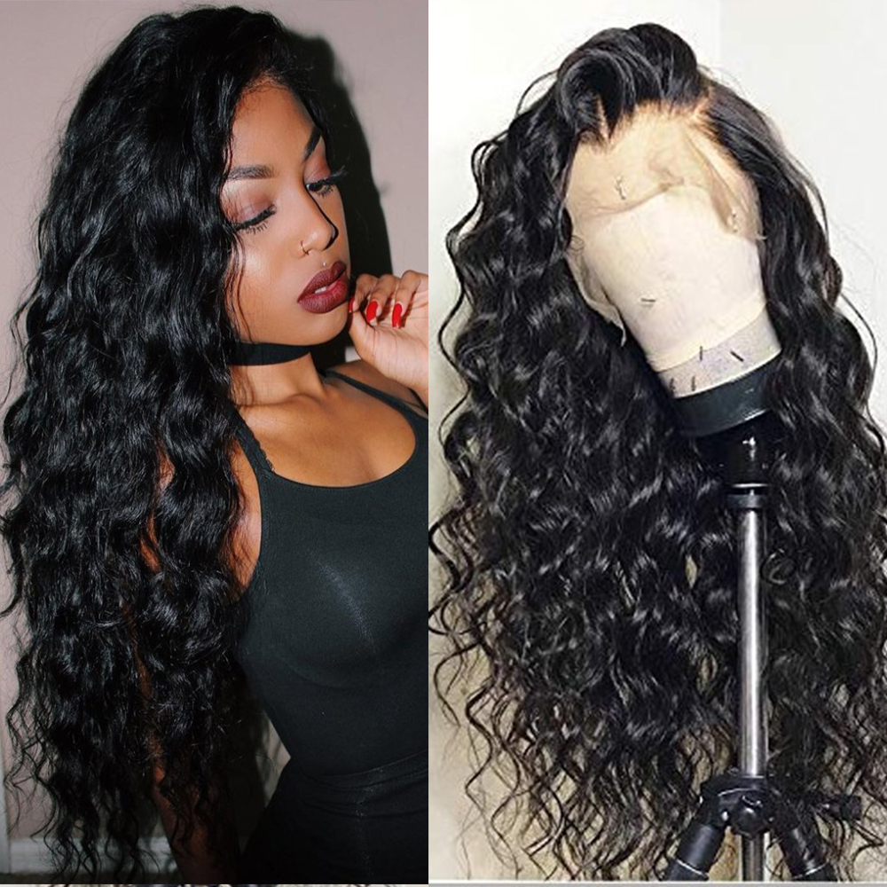 13x6 Lace Front Wigs Human Hair With Baby Hair Brazilian Deep Part Remy Lace Front Human Hair Curly Wigs Pre Plucked