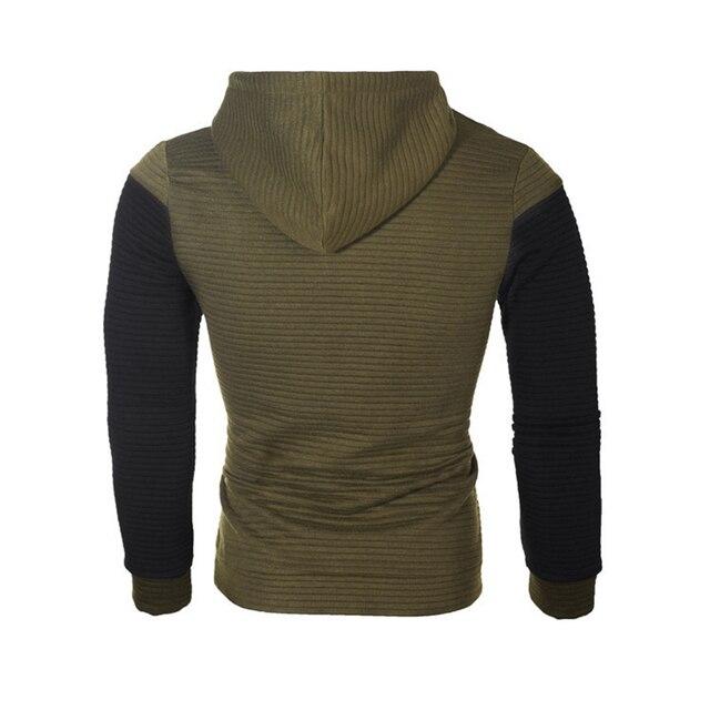 IceLion 2019 Autumn Hoodies Men Sweatshirt Patchwork Slim Fit Cotton Sportswear Fashion Tracksuit Hip Hop Streetwear Pullover 5