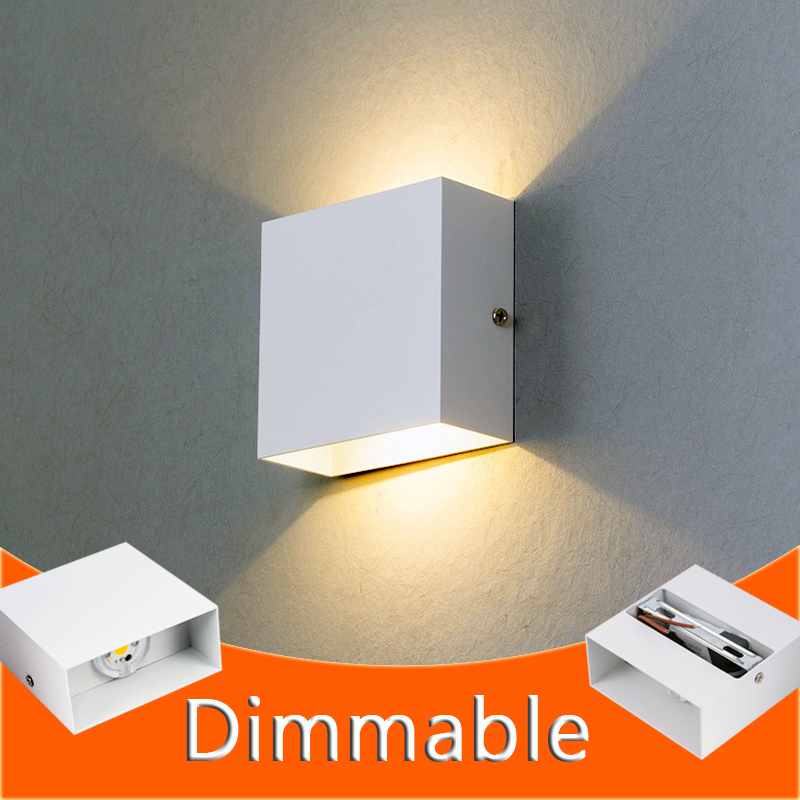 Dimmable 6W Wall Lamp Living Room LED Luminaire Aisle Wall Sconce Bedroom LED Wall Lights White/Black Color