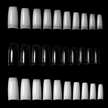 100Pcs False Nail Tips Cover French Style Flake Nails with Well Designs UV Gel Polish Acrylic Manicure Accessories