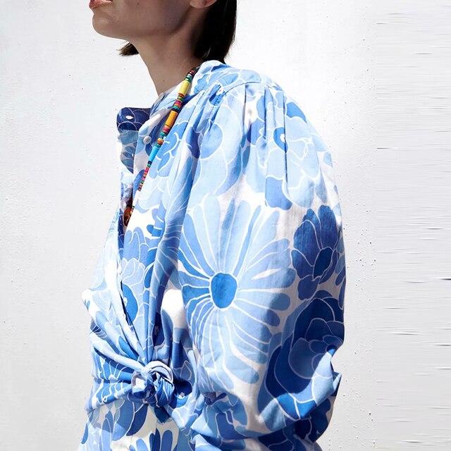 Za suit 2-piece suit new printed women Suits & shorts suits 2021 summer fashion chic pure cotton youth street women suit 3