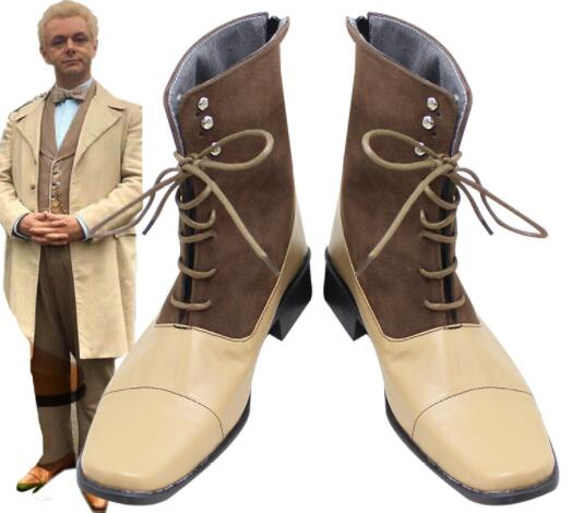 Aziraphale Shoes Cosplay Angel Good Omens Men Boots