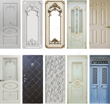 Door Sticker Home Decor Door Wrap Wall Sticker Mural Wallpaper Self Adhesive PVC Removable Waterproof Door Decal Home Decor 3d door sticker window balcony coconut tree sea view wall mural wallpaper stickers self adhesive removable home door wall decals