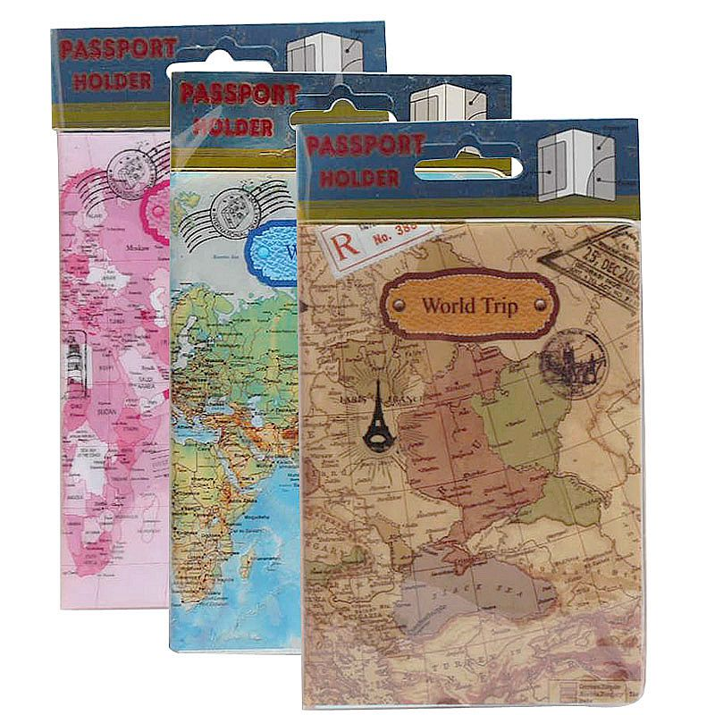 Women Men Passport Cover Case Travel Accessories PVC Cute Casual Passport Id Card Holder Busines Cardholder Holder Wallet Credit
