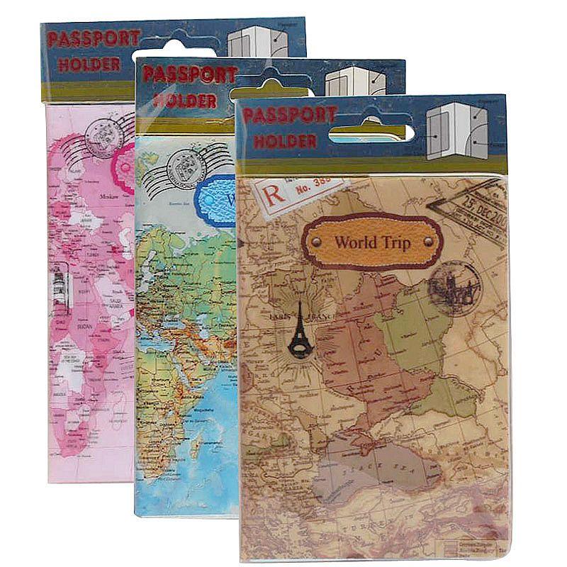 Women Men Passport Cover Case Travel Accessories PVC Cute Casual Passport Id Card Holder Busines Cardholder Holder Wallet Credit