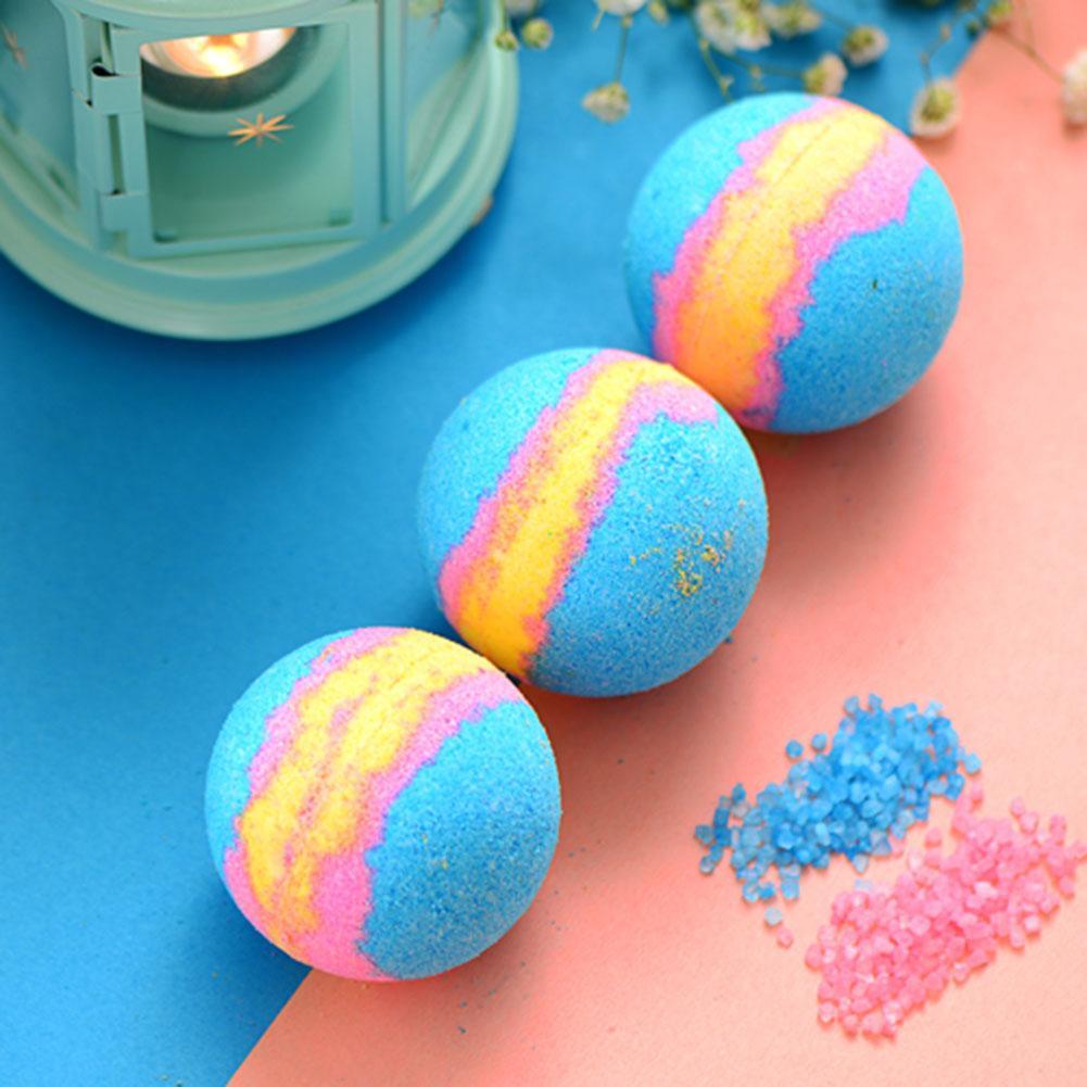 Bubble Bath Salt Ball Essential Oil Handmade Spa Stress Relief Bath Bomb