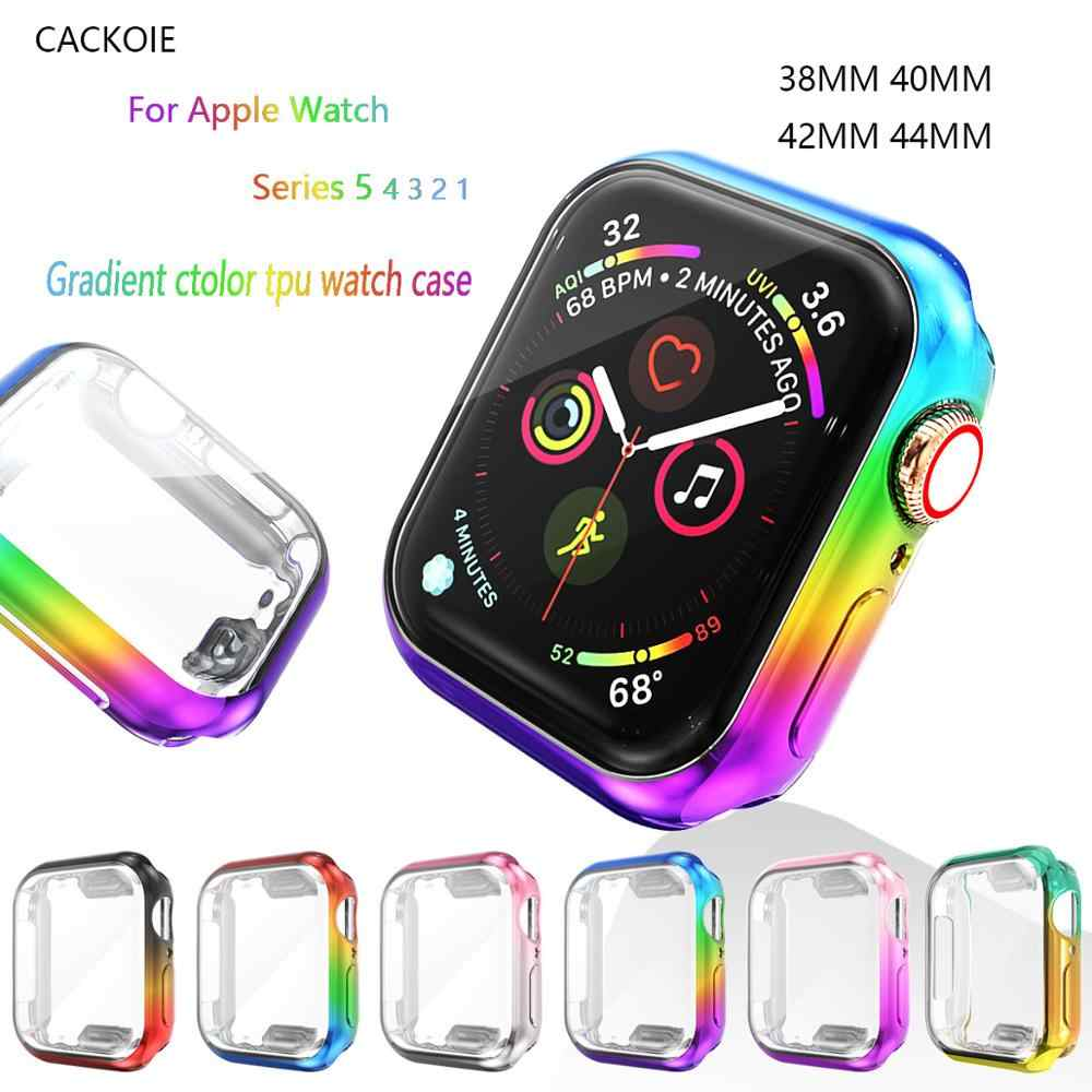 Watch Cover case For Apple Watch 5 series 5 4 band case 40mm 44mm Slim TPU case Protector for iWatch 38mm 42mm protective