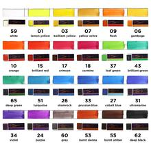 SeamiArt 24Colors Single Peice Solid Watercolor Pan Pigment Half Pan Watercolor Paint for Artist Drawing Art Supplies