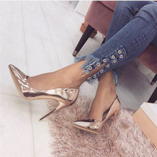 Пикантные женские туфли из лакированной кожи на высоком каблуке