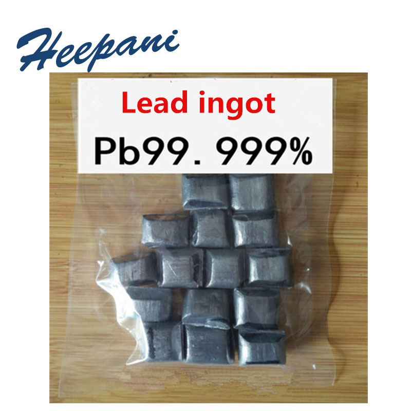 Free Shipping Lead Ingot / Granules With 99.999% Purity Electrolytic Lead Pb Metal Blocks
