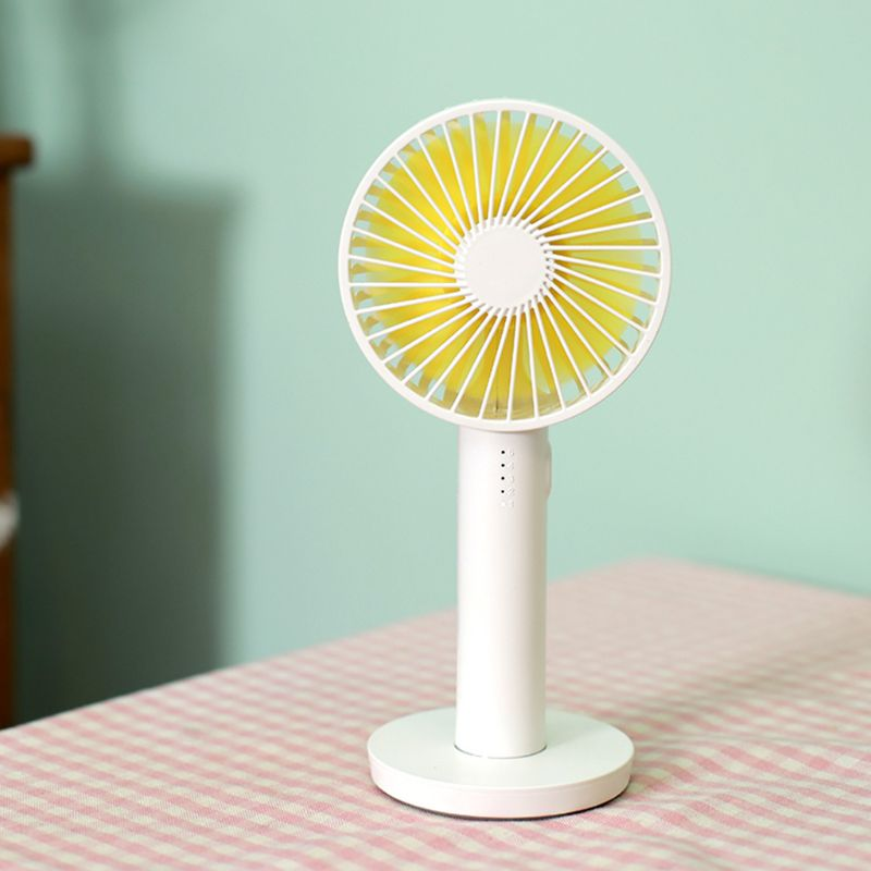 USB Rechargeable Mini Handheld Fan 5 Gears Natural Wind Noiseless Portable Fan for Outdoor Office Air Cooling with Mirror Base|Fans| |  - title=