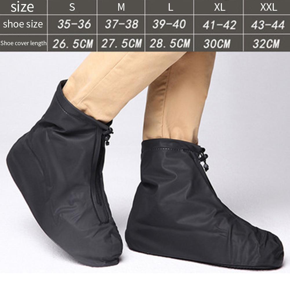 Men Women Waterproof Outdoor Protectors Non Slip Shoe Cover Travel Accessories Thickening Elastic Foot Wear Rain Boots Reusable