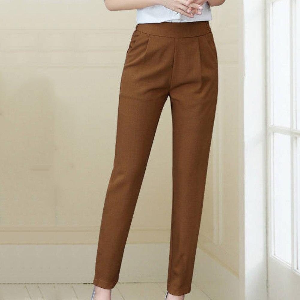 2020 Newest Ladies Korean Style Harem Pants Breathable Thin Drape Casual Pencil Pants Simple Trousers Plus Size Ankle Pants
