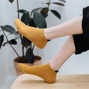 Цветные хлопковые женские носки; Популярные модели; Яркие цвета; Женские носки; Однотонные невидимые женские хлопковые носки; Носки с закры...