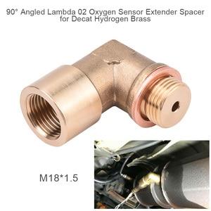 Image 2 - SPEEDWOW 90degree M18x1.5 O2 Lambda Sensor Oxygen Sensor Extender Spacer For Decat Hydrogen Brass