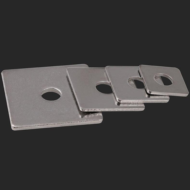 White zinc square washer / square gasket  M3-M16 10Pcs