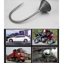 New Metal Oil Motorcycle Car Quad Boat Oil Funnel With Long-flexi Hose Pipe
