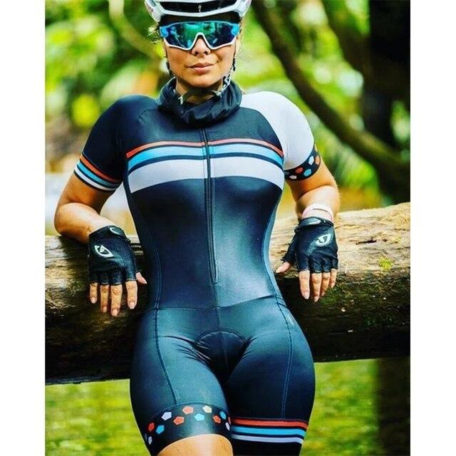 20-kafitt-19d-gel almofada ciclismo mulher triathlon ciclismo camisa de uma peça vestido pequeno macaco manga curta terno competição novo 2