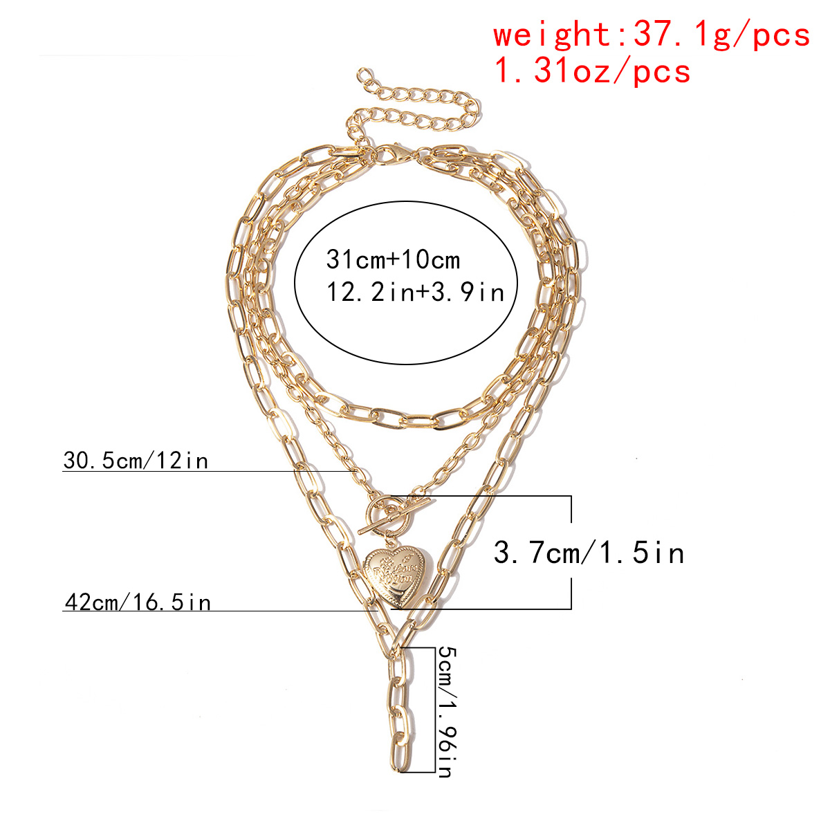 Cuban Heart Lasso Layered Necklace – BELLA Layered Necklace Necklaces 8d255f28538fbae46aeae7: color 1|color 2