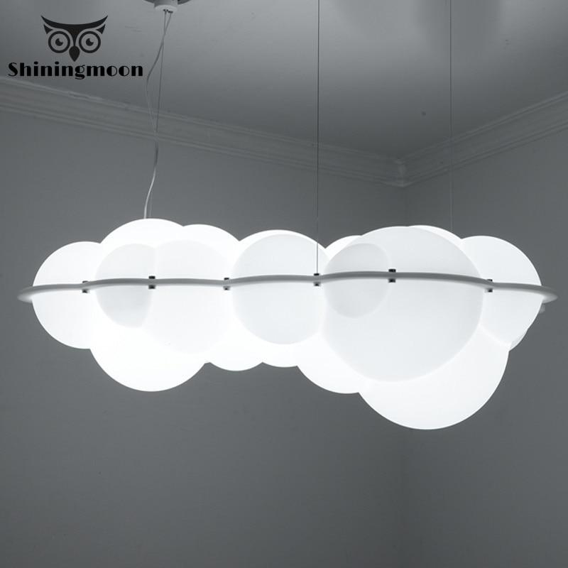 Modern Creative White Cloud Lamp Pendant Lights LED Clothing Shop Restaurant Art Hotel Living Room Lighting Suspension Luminaria