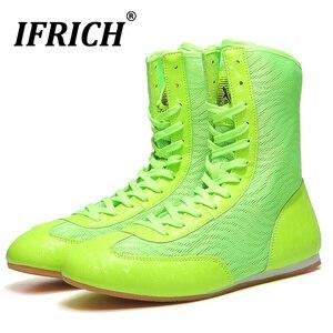 Zapatos de lucha de gran oferta para chico y adolescente, zapatillas deportivas de marca, antideslizantes de goma, botas de lucha
