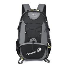 50L unisex backpacks travel back pack men outdoor sports bags trekking Nylon hiking rucksack Climbing Camping backpack for male
