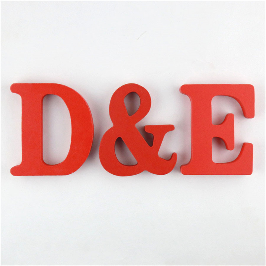 1pc 10cm Red Wooden Letters Alphabet DIY Word Letter Art Crafts Standing Name Design Party Wedding Home Decor 3.94 Inches
