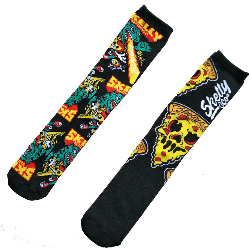 Socks men cartoon Skelly Selest sock men's anime Knee-High Warm Stitching pattern Antiskid Invisible Casual are winter Cotton