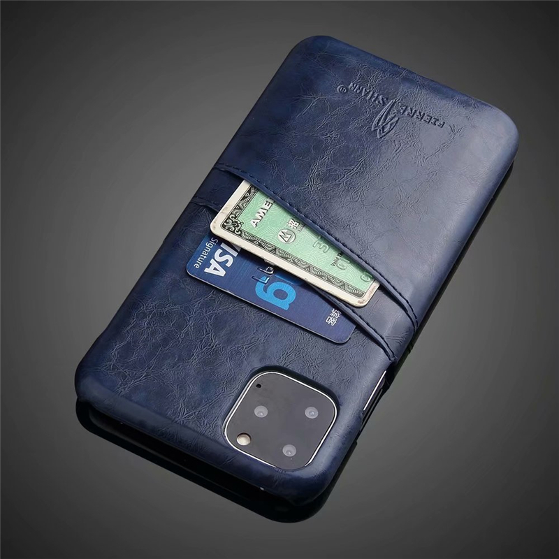 Slim Hard Leather Card Holder Case for iPhone 11/11 Pro/11 Pro Max 13