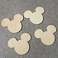 Mickey Mouse A Laser Cortar Formas De Madeira Não Acabados