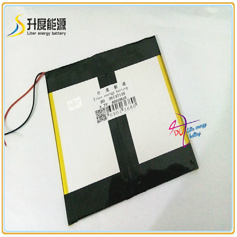 36137125 3.7V 8000mAH SD 35125135 (polymer Lithium Ion / Li-ion Battery ) For Tablet Pc;power Bank;