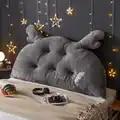 INS lindo gran dormitorio cama sofá cojín de respaldo almohada para cabecera de cama gato almohada Cojines regalo Cojines decoración del hogar FK214