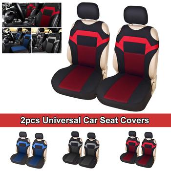 Hot Sale 2pcs Universal Car Seat Cover Fit Most Cars with Tire Track Detail Styling Protector auto interior supplie