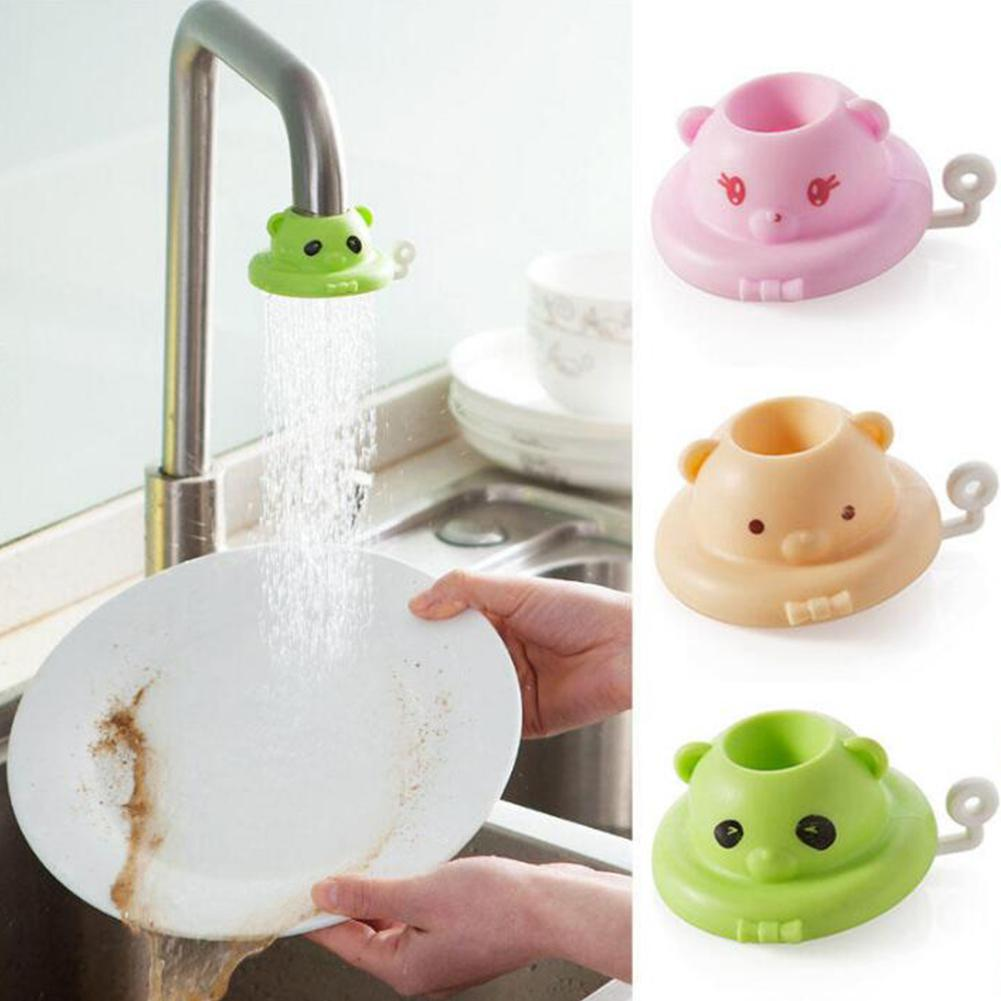 1PC Water Saving Device Splash Shower Bathroom Faucet Anti T Cartoon Kitchen Tap Shower Head Nozzle Faucet