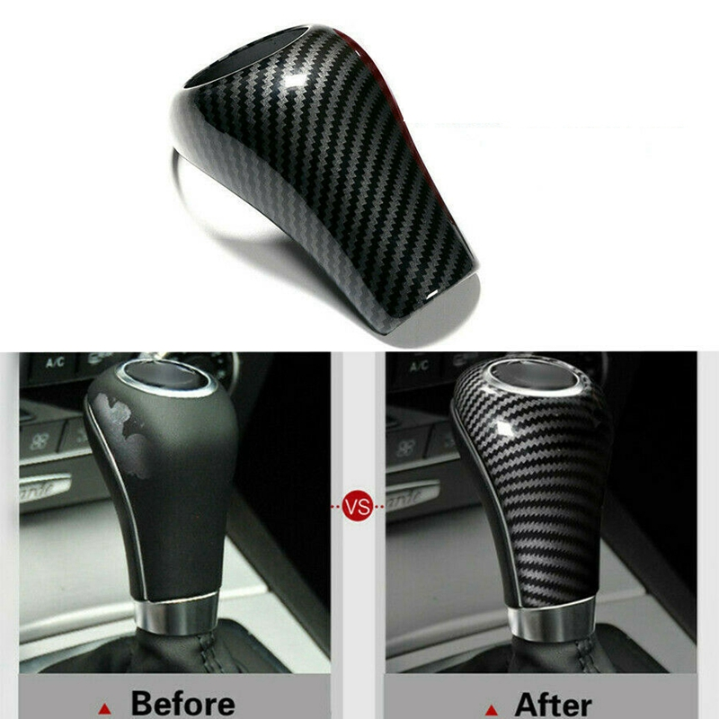Carbon Fiber Gear Shift Knob Cover For Mercedes-Benz W204 W212 A C E G GLS Class