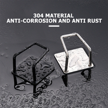 Sink Wall-Sucker-Hanger Self-Adhesive Shelf-Cloth-Holder Storage Bathroom Stainless-Steel